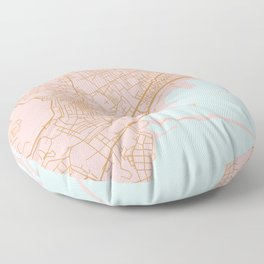 Napoli map Italy Floor Pillow