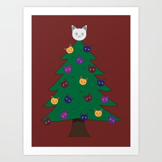 Merry Meow Art Print