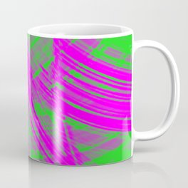 Intersecting fibers of light threads with pistachio energy of futuristic abstraction. Coffee Mug