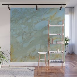 Marble in Blues and Golds, Italian  Wall Mural