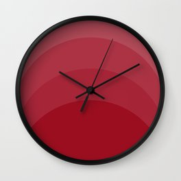 Four Shades of Red Curved Wall Clock