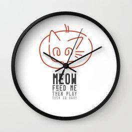 meow, then go away Wall Clock