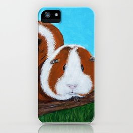 Guinea Pigs Painting iPhone Case