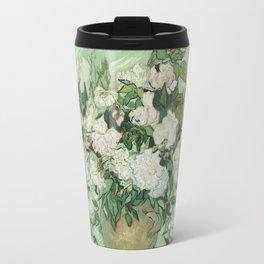 Vase With Pink Roses by Vincent Van Gogh Travel Mug
