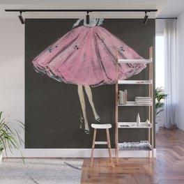 Jolie Pink Fashion Illustration Wall Mural