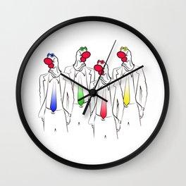 Sock Heads Wall Clock