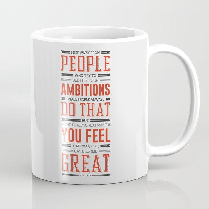Lab No. 4 Keep Away From People Mark Twain Inspirational Quote Coffee Mug