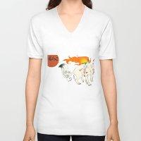 okami V-neck T-shirts featuring Okami! by Caroline.Sweet