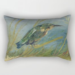 Vincent Van Gogh - Kingfisher by the Waterside, 1887. Rectangular Pillow