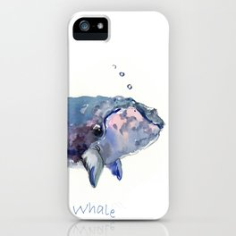 Rigth Whale artwork iPhone Case