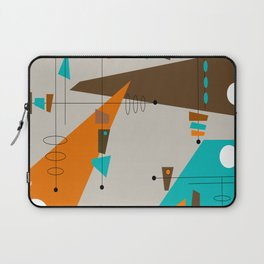 Mid-Century Rectangles Abstract Laptop Sleeve