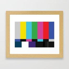 Colorbars Framed Art Print