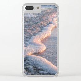 Sea Foam at Sunset Clear iPhone Case