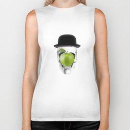 Magritte Skull Biker Tank