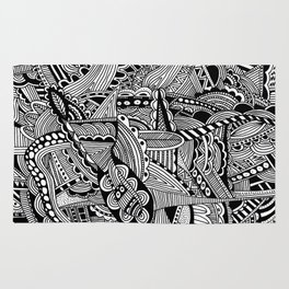 Black and White Doodle Art #2 Rug