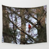cardinal Wall Tapestries featuring Cardinal by SnapshotsD