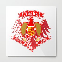Adobo Coat of Arms Metal Print