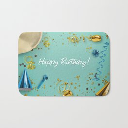 Happy Birthday Party Scene Layflat Bath Mat