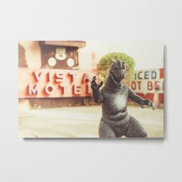 Godzilla Attacks Arizona Metal Print