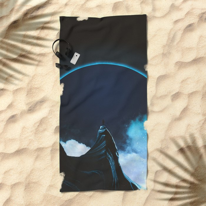 Full dark Beach Towel