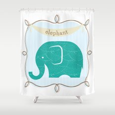 Fun at the Zoo: Elephant Shower Curtain