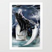 kuroshitsuji Art Prints featuring Undertaker/Kuroshitsuji by Kali-Mav