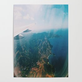 Flying Over Costa Rica Poster