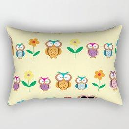 sweet owls patterns Rectangular Pillow