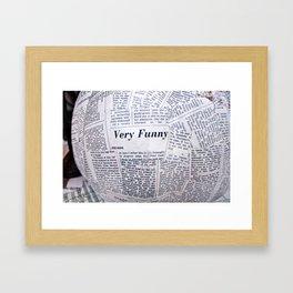 NewsPapier-mâché Framed Art Print