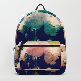 Washed Out Snowball Branch Collage (IV) Backpack