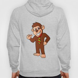 Monkey with tie Hoody