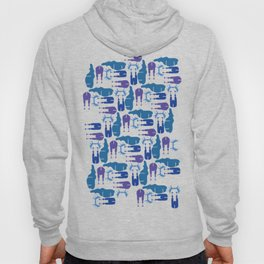 Blue Moose Pattern Hoody