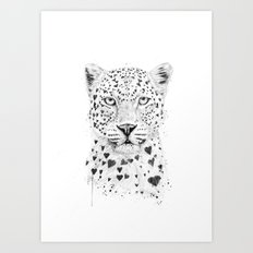 Lovely leopard Art Print
