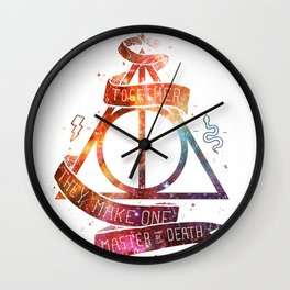 galaxy deadly hollow harry poter Wall Clock