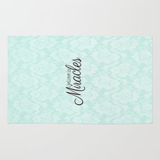 I believe in Miracles Blue Lace  Rug