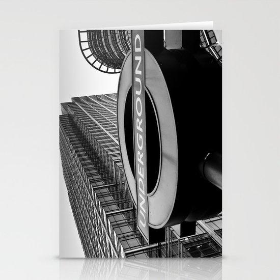 Canary Wharf  Underground Stationery Cards