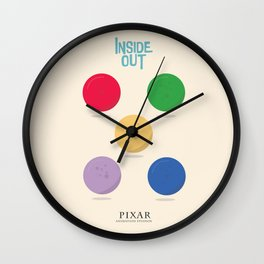 Inside Out - Minimal Movie Poster, animated movie, Wall Clock