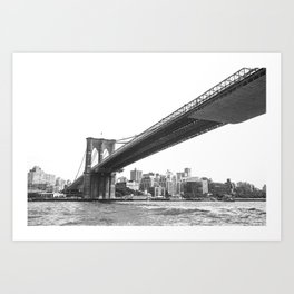 Brooklyn Bridge, NY. Art Print