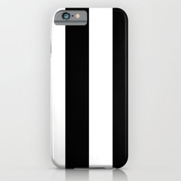 Black and White | Vertical Large Stripes iPhone Case