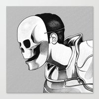 mask Canvas Prints featuring Mask by Brian Luong