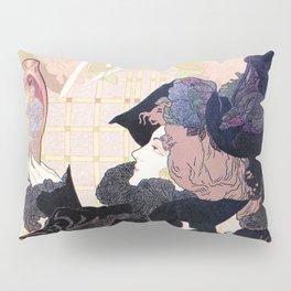 1899 Art nouveau auction journal ad Pillow Sham