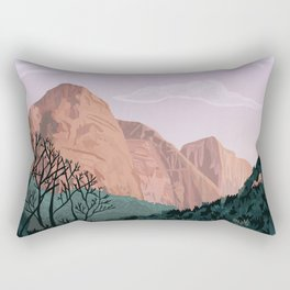 Zion National Park, Utah, USA Illustrated National Parks Rectangular Pillow