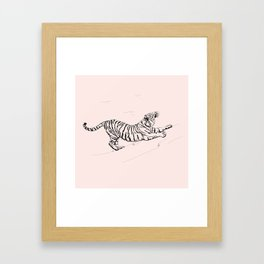 Tiger and Sun I. Framed Art Print