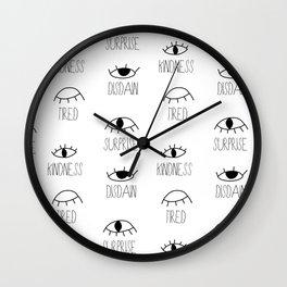 Kindness, Disdain, Tired, Surprise Wall Clock