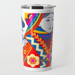 Queen of spades Travel Mug