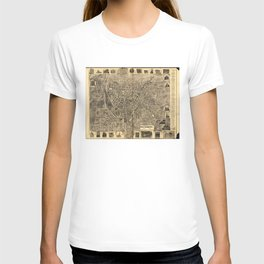 Aerial View of Waterbury, Connecticut (1899) T-shirt