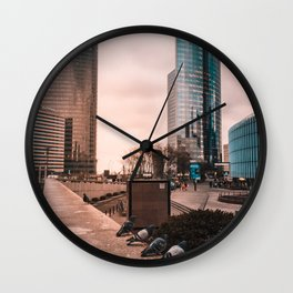 French Pigeon Line Up Wall Clock