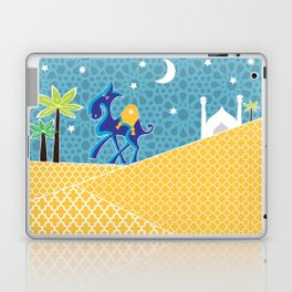 Moroccan camel scene Laptop & iPad Skin