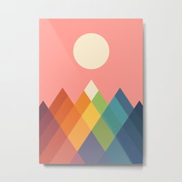 Rainbow Peak Metal Print