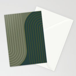 Two Tone Line Curvature XXXVII Stationery Cards